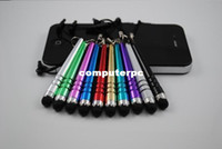 Wholesale Baseball Bat Stylus - 10Pcs Baseball Bat Design Capacitive Stylus Pen Touch Screens Pen For Phone  iPhone 4  5 iPad 2  3 Free Shipping SP-14