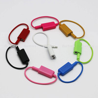 Wholesale Earphones Y Splitter - 3.5mm Plug 1 Male to 2 Dual Female Earphone Headphones Y Splitter Stereo Audio Cable Adapter Jack for Mp3 Phone iPad Colorful Share Music