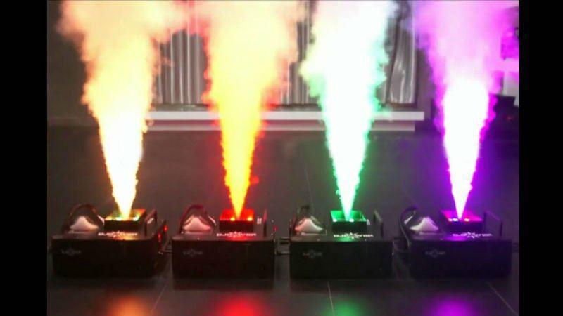 1500W الصمام العمود الملونة الدخان آلة الضباب