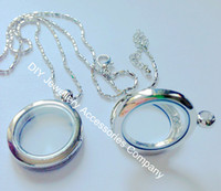 Wholesale Lockets For Free - 10pcs 25mm silve floating locket without rhinestone 316L stainless steel color locket pendant (chains inluded for free)