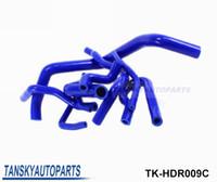 Wholesale High Temp Silicone Hose - Tansky-Silicone Intercooler Turbo Radiator Hose Kit High Temp Piping For Honda CIVIC EG EK 92-00 (9 pcs) TK-HDR009C