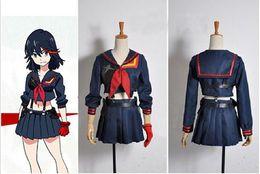 Wholesale La Made Xs - Kill La Kill Matoi Ryuko Navy Sailor Uniform Senketsu Cosplay Costume Japan Anime Dress Hallowmas Gift Any size custome made
