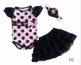 Wholesale Ems Girls Dresses - Wholesale -NEW Little Girl 3 PCS Set Leopard Romper Bodysuit & Ruffled Skirt Dress & Headband Bow,Climb clothes ,Romper+hair band+skirt EMS