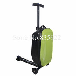Wholesale Travel Trolley Wheels Luggage Bag - Free shipping Trolley female travel bags male luggage drag boxes suitcase universal wheels luggage with scooter sets children's suitcase