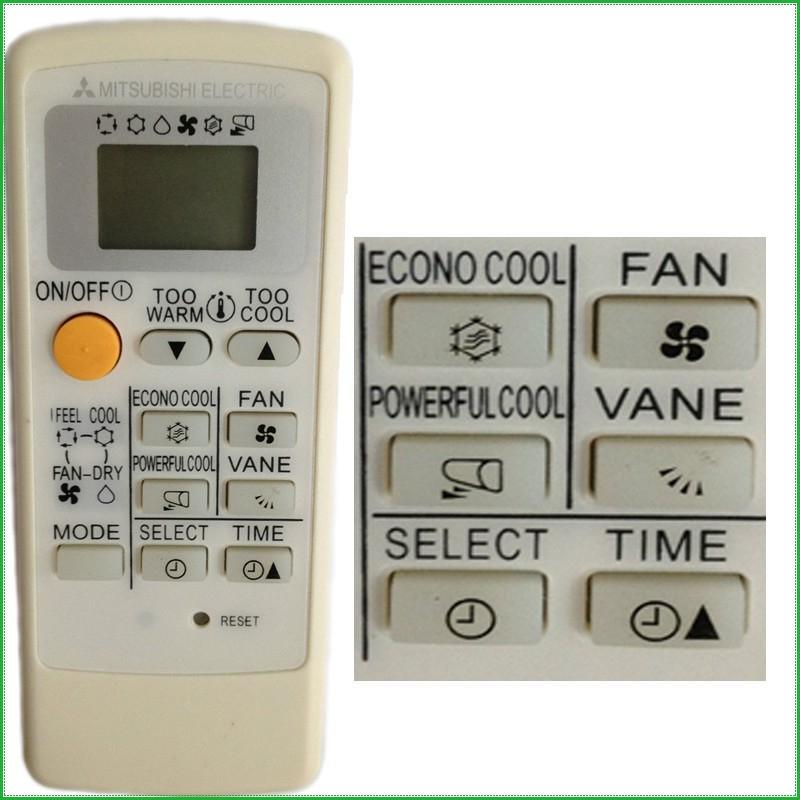 mitsubishi air conditioner manual remote control