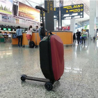Wholesale Universal Suitcase Trolley - Cheaper Standard 21 inch children's universal wheel board chassis suitcase trolley luggage bag PC material impact strong hard luggage sets