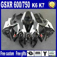 Wholesale Suzuki Gsxr Fairing K6 - Injection molding fairing body kit for SUZUKI K6 GSX-R 600 750 06 07 GSXR 600 GSXR 750 2006 2007 white black bodywork fairings set Nd47