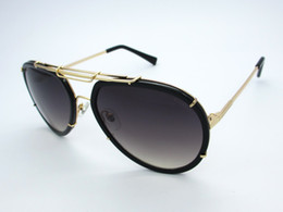 Wholesale Huge Pc - Mens Womens Fashion Designer Sunglasses Metal Frame Huge Lens