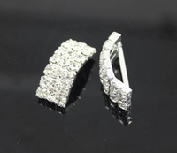 Wholesale Wedding Decor Prices - Factory Price 100pcs Arching Wedding Invitation Rhinestone Metal Buckles DIY Hair Accessory Decor Golden Silver