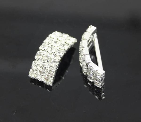 top popular Factory Price 100pcs Arching Wedding Invitation Rhinestone Metal Buckles DIY Hair Accessory Decor Golden Silver 2021