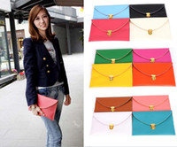 Wholesale Envelope Purse Chain Hands - 200PCS Womens Envelope Clutch Chain Purse Lady Handbag Tote Shoulder Hand Bag 14 colors