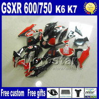 Wholesale k6 kit - Injection molding fairing kit for SUZUKI fairings K6 GSXR 600 750 06 07 GSXR 600 GSXR 750 2006 2007 LUCKY STRIKE motobike parts