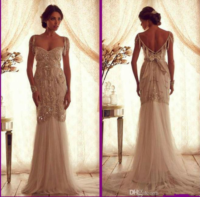 8376ff5b7c Cheap Ivory Beach Anna Campbell Vintage Wedding Dresses Lace 2014  Sweetheart Capped Sleeveless Backless Beads Mermaid Bridal Gowns2288  Perfect Wedding Dress ...