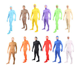 Wholesale A variety of colors Unitard Lycra Spandex Zentai Body Suit Open Face Out S XXL