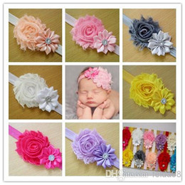 Wholesale Multi Hair Colors - Wholesale - 10 Colors New Baby Flower Headband Baby Girls Hair Accessories Children Headbands Accessories Christmas Gifts