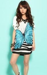 plus size borboleta boêmio vestido tamanho grande mulheres coreano gelo seda solta de manga curta verão borboleta padrão lsummer praia mini vestidos de