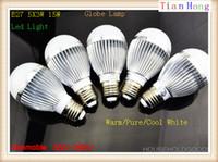 Wholesale E27 5x3w 15w - Sample E27 E14 5X3W 15W Globe Lamp Led Bubble Ball Bulb 85V-265V Bubble Ball Bulb Warm Pure Cool White