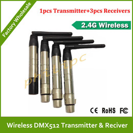 Wholesale Dmx Transmitter Receiver - Free Shipping 4PCS Wireless DMX Broadcast transmitter and receiver , wireless dmx512 console,led mov