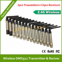 Wholesale Dmx Transmitter Receiver - Wholesale - LLFA1650 Free shipping 2.4G Wireless DMX Signal Controller DMX 512 Transmitter or DMX512 Receiver For Stage Par Light