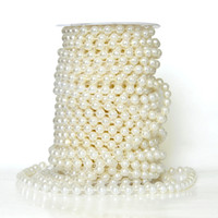Wholesale pearl garland decorations for sale - Group buy Stock meters MM Beige Pearl Beads Garland Wedding Centerpiece Flower Table Decoration Chandelier Crafting DIY Accessory