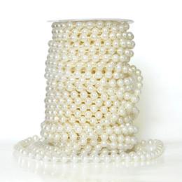 Canada Stock! 20 mètres 8 MM Beige Perles Perles Guirlande De Mariage Pièce D'intérieur Fleur / Table Décoration Lustre Artisanat Accessoire BRICOLAGE Offre