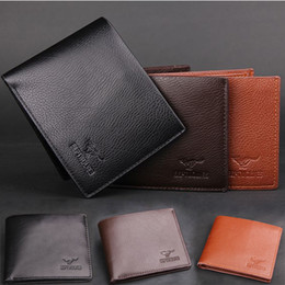 Wholesale Genuine Leather Purses Wholesale - Exports classic design quality wallet Fashion new Men's genuine leather with PU purses wallets for men black coffee color free shipping