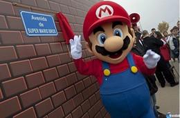Супер костюм талисмана онлайн-Большой роскошный L Super Mario bros. костюм талисмана взрослых красивое вечернее платье, бесплатная доставка
