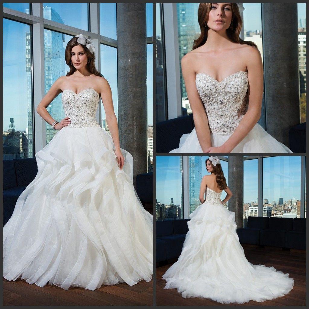 Discount 2015 Justin Alexander Wedding Dresses 9750 Ball Gown ...