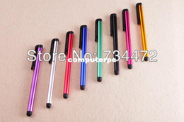 Wholesale Iphone4s Cellphones - 100pcs lot Universal Capacitive Stylus Touch Pen for iPhone4s 5 5s iPad Tablet PC Cellphone for samsung galaxy s3 s4 note3 #50-1