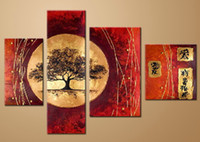 Wholesale Japanese Painting Canvas - oil painting canvas landscape Japanese Art decoration high quality hand painted home office hotel wall art decor free shipping,FZ058