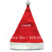 Wholesale Xmas Felt Ornaments - Free Shipping by EMS,200pcs lot ,Felt Christmas Hat Christmas Gift XMAS hat,suitbale of children and adult