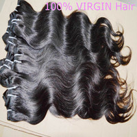 Wholesale Cheapest Extension Hair Weave - 7a cheapest 6 bundles 100% Peruvian untreated Human Hair Weave Wavy Body Wave Natural Color Hair Extensions Dyeable