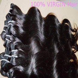 Wholesale Bouncy Wave Hair - 5 bundles cheap processed human Peruvian wavy hair 50g piece soft and bouncy DHgate top selling weaves