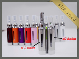 Wholesale New Bottom Heating Coil Evod - NEW EVod MT3-2 Atomizer Electronic Cigarette 2.4ml Updated MT3 No Wick Bottom Heating Coil Detachable Clearomizer DHL