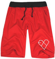 Wholesale Luhan Sehun Wolf - 2014 exo Wolf 88 short loose casual short pants sport half pants couple pants exo-k exo-m print shorts Triangle LUHAN KRIS SEHUN 8color