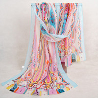 Wholesale Wholesale Scarves For Sale - High Quality New Fashion Scarf For Women Girl Paisley Pattern Chiffon Printed Scarfs Hot On Sale