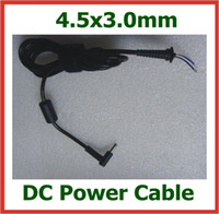 4.5x3.0mm 2pcs DC Power Jack Plug / 4.5 * 3.0 mm Conector con cable de la cuerda para HP Ultrabook Dell Laptop cable cargador de alimentación de CC