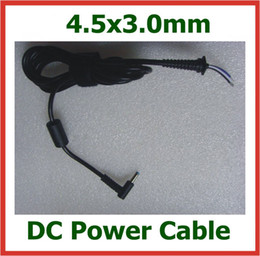 Wholesale Hp Laptops Jack - 2pcs DC Power Jack Plug 4.5x3.0mm   4.5*3.0mm Connector With Cable Cord for HP Dell Ultrabook Laptop Charger Power Supply DC Cable