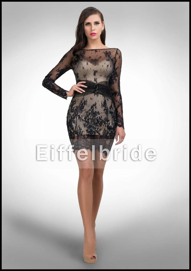 2016 Fashion Mature Women Cocktail Dress With Sexy Stunning Sheer ...