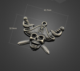 Wholesale Pirates Caribbean Jewelry - 13343 vintga Pirates of the Caribbean skull charms Necklace earrings Pendants DIY alloy Charms Jewelry Findings & Components