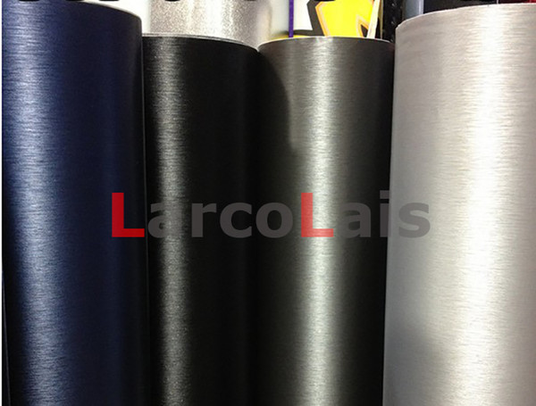 Black 1.52m*30m 5 Colors Brushed Vinyl Wrap Film Self Adhesive Vehicle Wrapping Decoration Auto Car Sticker With Air Guide