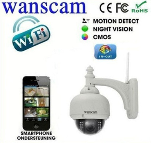 Nuovo arrivo !! Telecamere cctv Wanscam Outdoor PTZ Wireless / wifi HD Megapixel Supporto telecamera IP P2P Mobile View HW0028