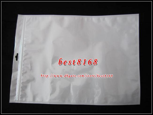 35x25cm bianco cerniera imballaggio al dettaglio sacchetto di plastica imballaggio morbido imballaggio Ipad Air 2 3 4 5 tablet pc custodia in pelle del caso duro custodia pelle 100 pz