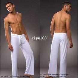 Wholesale Sexy Mens Robe - 1pcs leisure sexy sleepwear for men bathing wholesale mens sleep bottoms Manview yoga long pants panties underwear pants robe