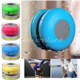 Wholesale Microphone Suction Cup - 6 colors Wireless Waterproof Bluetooth Speaker with Suction Cup and Built-in Microphone can answer phone calls used outdoor or bathroom