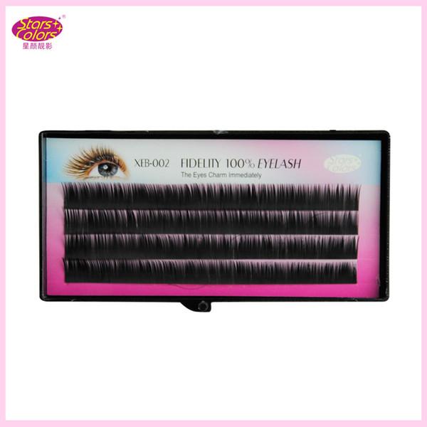 Cílios postiços naturais C Curl longo single False Eye cílios Cílios Extensão Imitação Mink Fidelity 100% Mixed Length