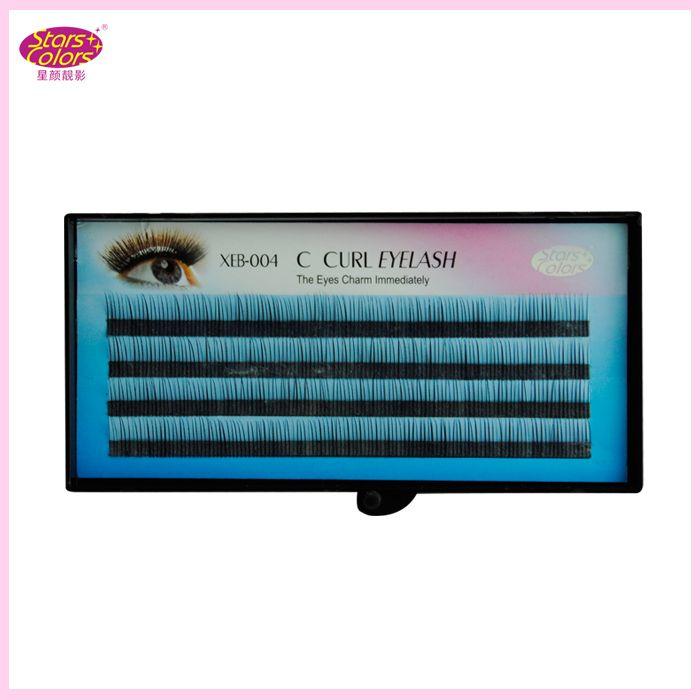 Natural Individual Single Eyelashes C Curl Synthetic Hair Black False Eyelashes Extension Thickness0.10mm natural false eyela