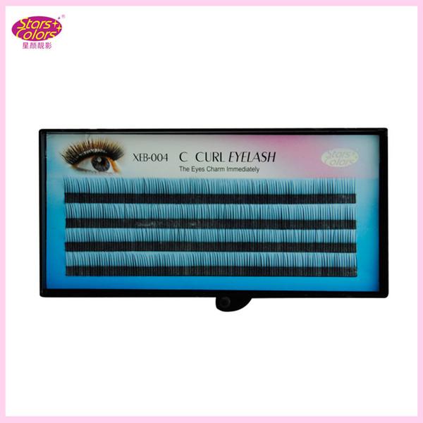 Natural Individual Single Eyelashes C Curl Synthetic Hair Black False Eyelashes Extension Thickness(0.10mm) natural false eyela
