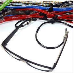 Wholesale Adjustable Eyeglasses - 120X High Quality New Adjustable Glasses Cord Sunglasses Eyeglass Neck Cord Strap Glasses String Lanyard Free shipping