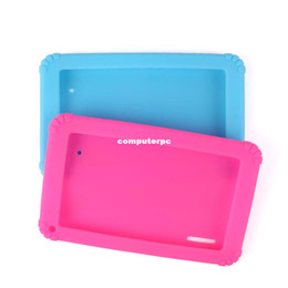 skins for android tablets NZ - 2014 New Soft Silicone Cover Case for 7'' 7 inch Android Capacitive a13 mid Tablet PC #50606